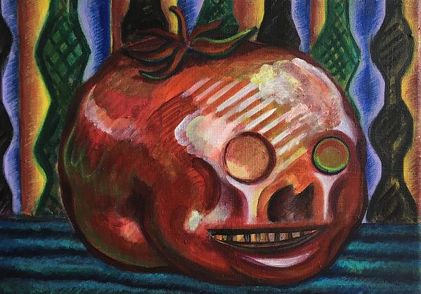 骨化西红柿 布面丙烯 25x35厘米 2020 Tomato Skull Acr