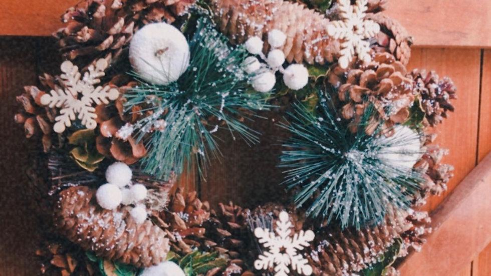 White Apple Wreath