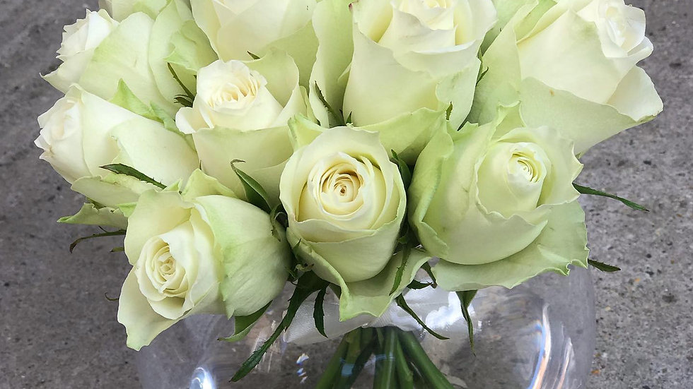 Crystal White Roses