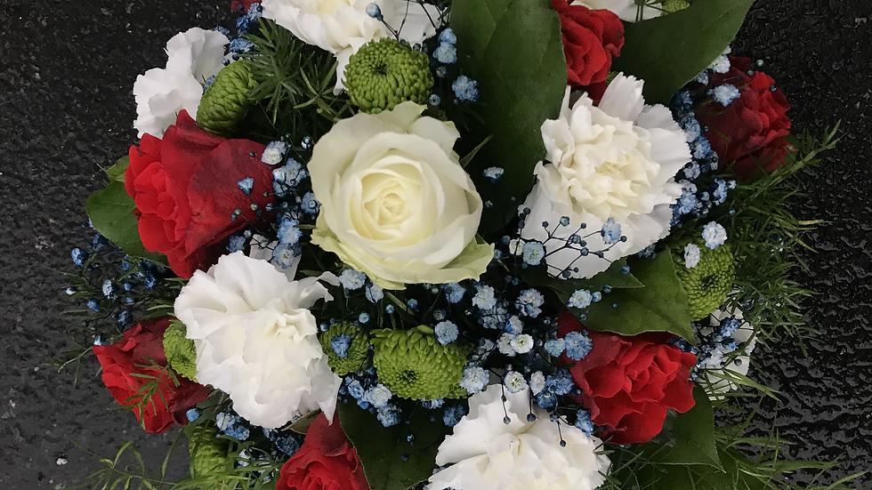 Florist Choice Posy Red & White