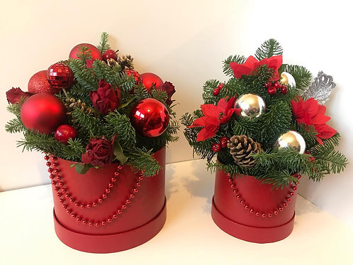 Red Christmas Hat Box