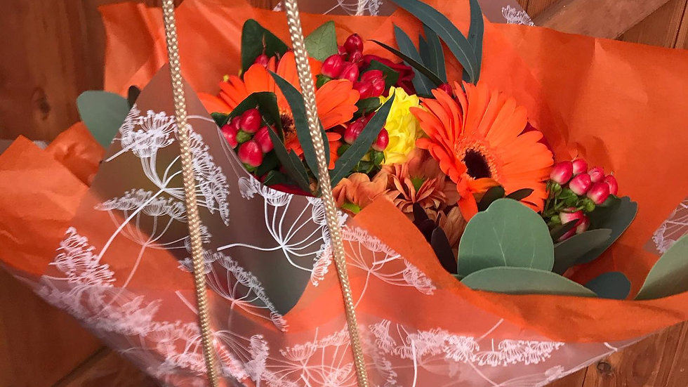 Orange Christmas Bouquet