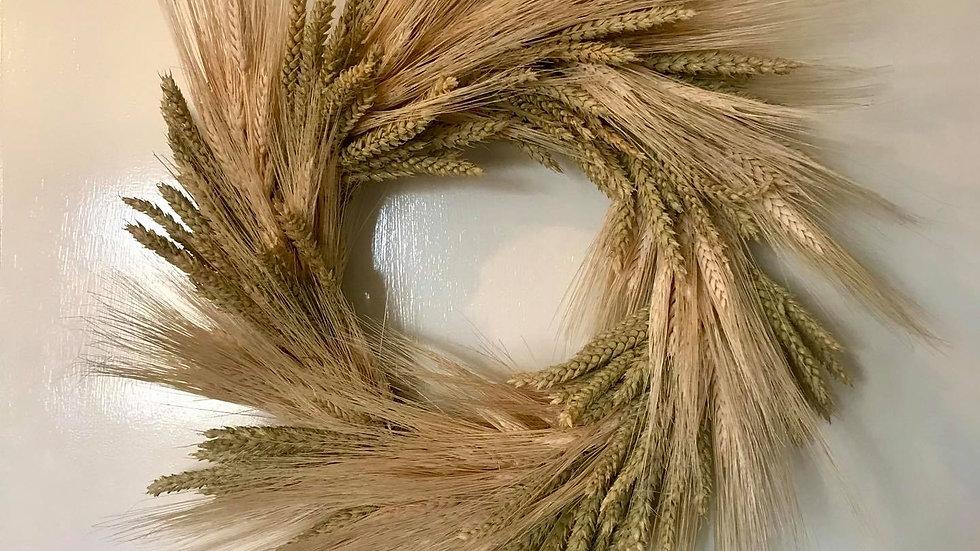 Dried Wheat Wreath
