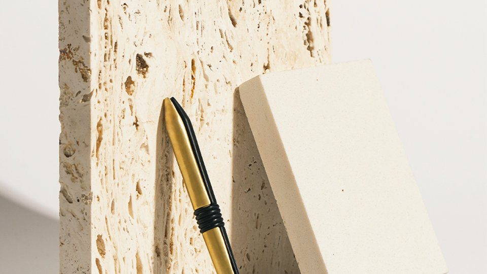 PEG pencil : 2 mm lead holder pencil - 2tone (Flat black and Bras
