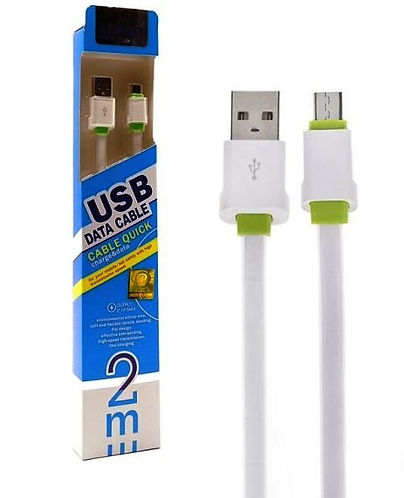 Cod: DCLS01 Trasfiere Datos / Carga Fast Charge Largo: 2Mts Cable Plano Corriente Salida: 2.1MP Micro USB Colores: Blanco