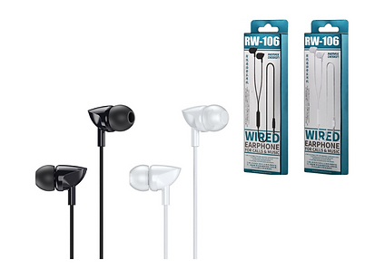 COD: MLRRW106 Cable 1.2Mts Pin 3.5mm Botón de control Resistencia 16Ohms/Frecuencia 20-20HZ  Colores: Blanco / Negro