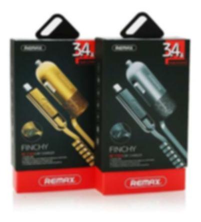 Cod: CARRCC103 1USB - 3.4AMP Salida Micro USB / Iphone Colores: Dorado / Plateado