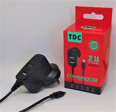 Cod: CVUNIV1C2.1 1 USB Potencia 2.1AMP Cable de 1Mt Micro USB Seguridad Eléctrica