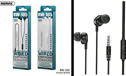COD: MLRRW105 Cable 1.2Mts Pin 3.5mm Botón de control Resistencia 16Ohms/Frecuencia 20-20HZ  Colores: Blanco / Negro