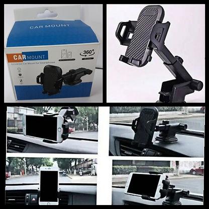 Cod: HOLAUXP019 Ventosa al vidrio o tablero Universal. Tamaño Compacto Cabezal giratorio 360°. IDEAL p-VIAJES Colores: Negro