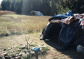 Covered Sweat Lodge & Altar.JPG