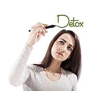 Person at detox foot spa