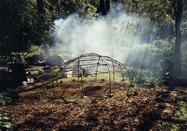 Sweat Lodge with Smoke.JPG