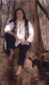 Wind Daughter at tree.JPG