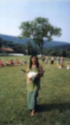 Wind Daughter with Creator buffalo skull at Medicine Wheel Gathering.jpg