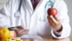 Doctor analyzing health