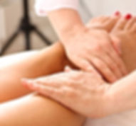 Massaging lymph in legs