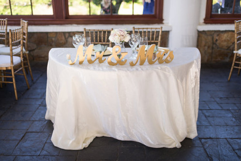 Vintage Gold Mr. and Mrs. Sweetheart Table Sign | Special Events + ...