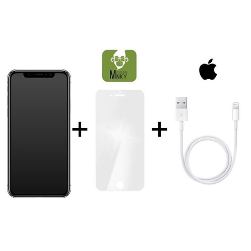 iPhone X Displayreparatur inkl. Green MNKY Schutzfolie, Apple Lightnin