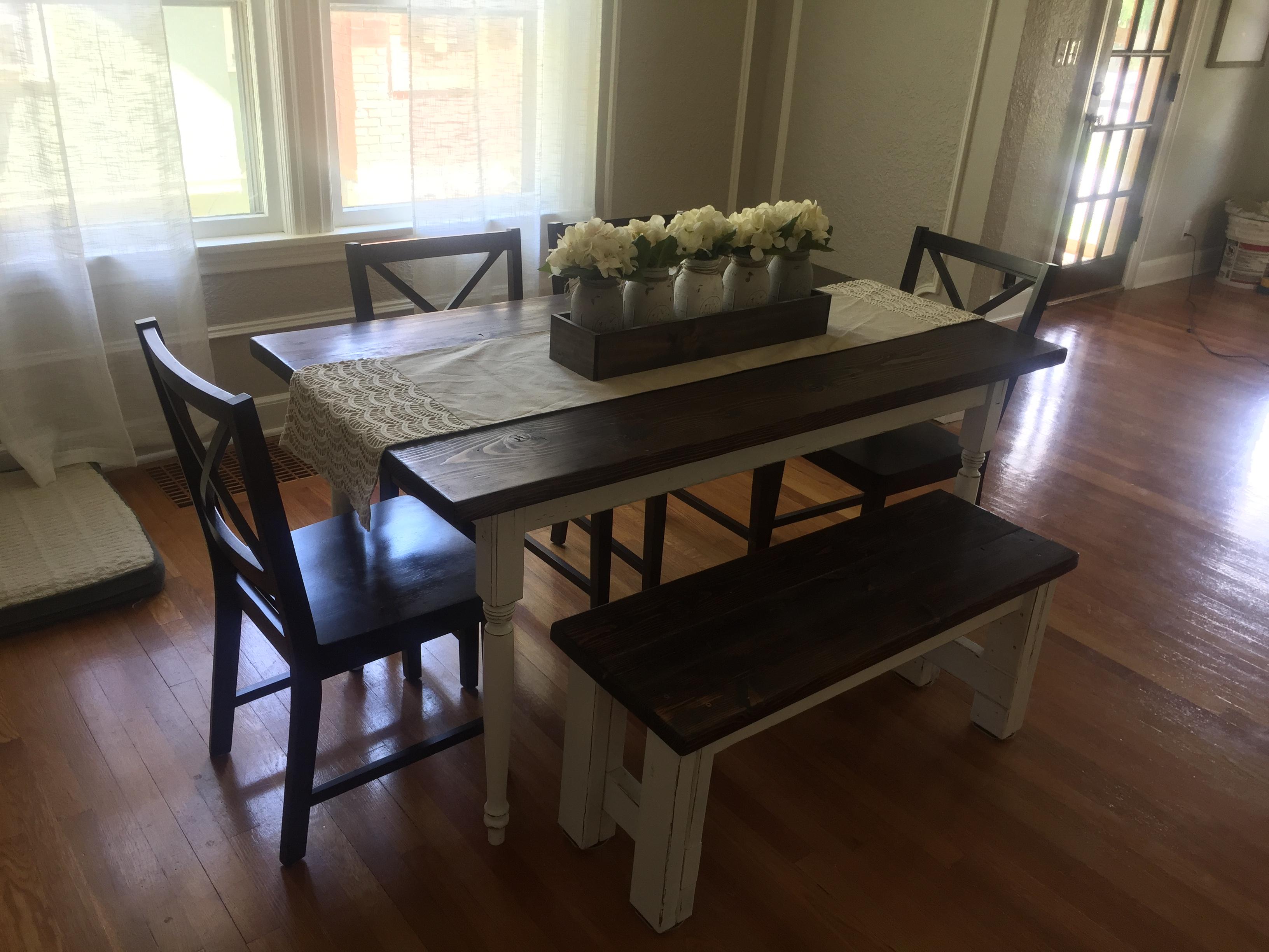 Custom Farm Table & Bench