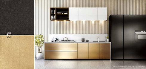 Küche folieren Metall