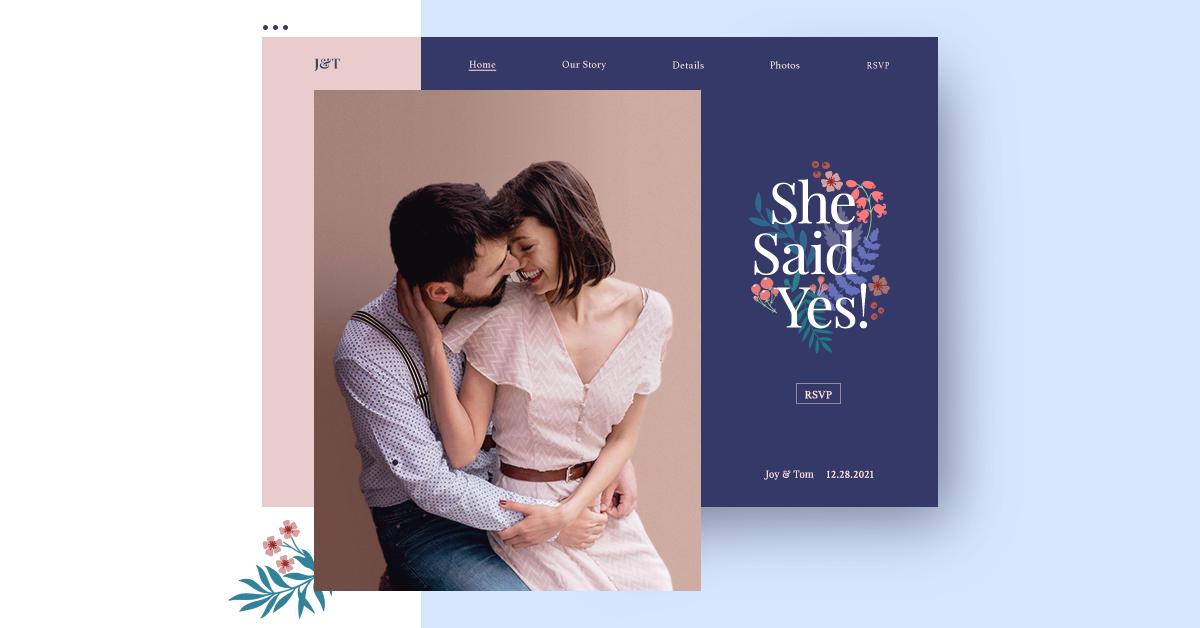Joy Wedding Website.Wedding Websites Create A Free Wedding Website Wix Com