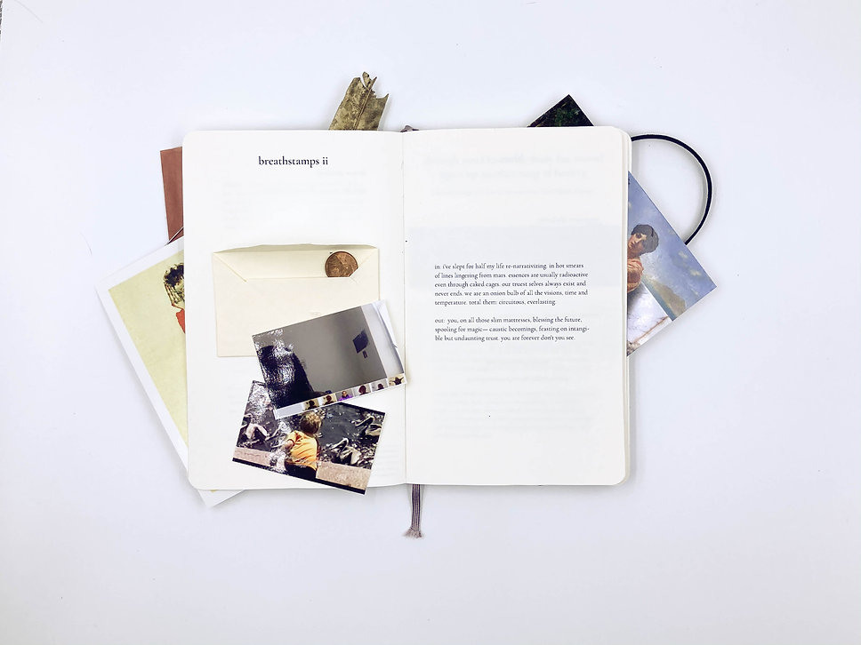 Pages of WHISKERY SQUID (MEMOIRS), interactive sculpture/artbook, a collection of lyrical poems by Nigerian curator and writer Adéolá Olákìítán, in collaboration with visual artist Alexander Si, published by 24EBroadway