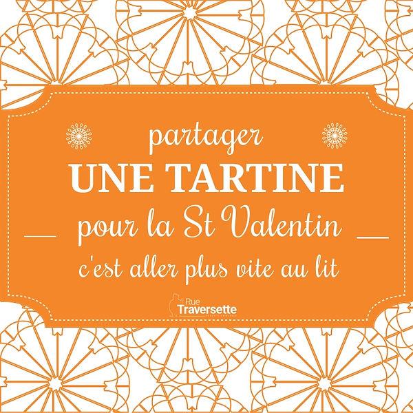 partager une tartine pou l St Valentin