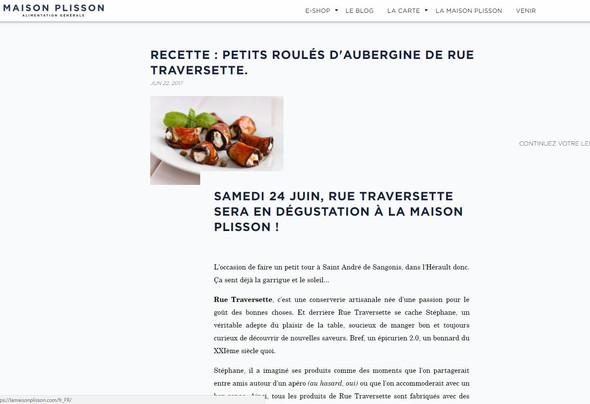 Rue Traversette et la Maison Plisson