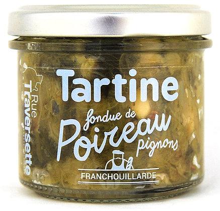 Poireau (fondue) - pignons