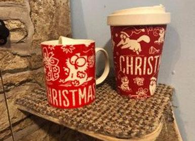 Simon's Cat Christmas Mug Combo