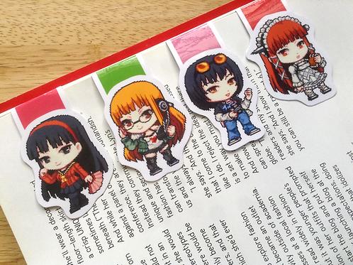 Persona girls magnetic bookmarks (Futaba, Chidori, Yukiko, Ohya)