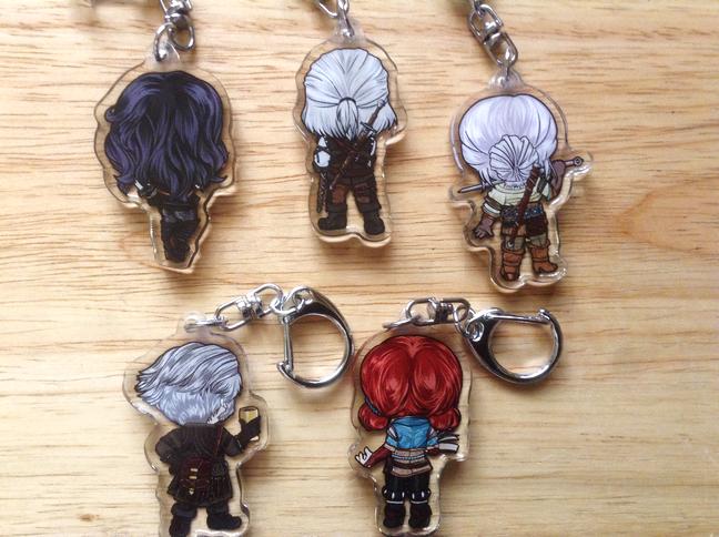 Witcher 3 Acrylic keychains