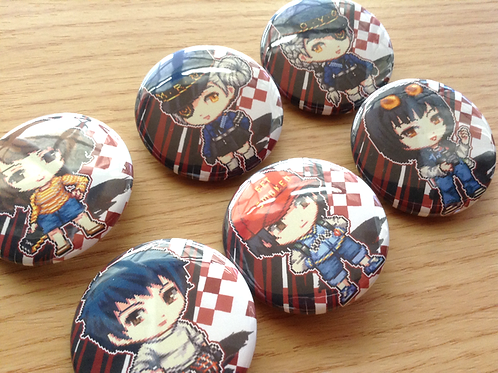 Persona 5 Confidante button pins