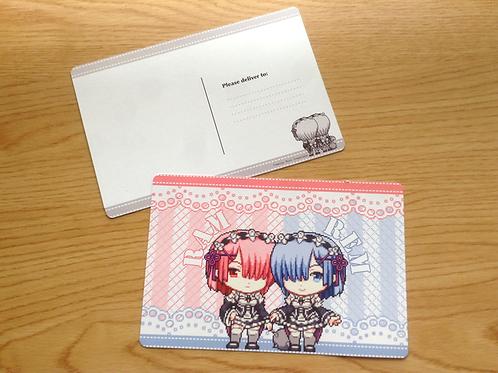 Set of 2 Re:Zero Postcards