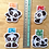Thumbnail: Panda magnetic bookmarks (mini)