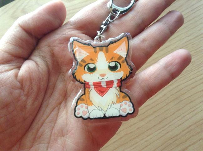 Cat acrylic keychains