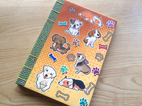 Sparkly Dog Journal (A6/A5 size)