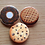 Thumbnail: Food button pin set - Donut pin, apple pie pin, cookie pin