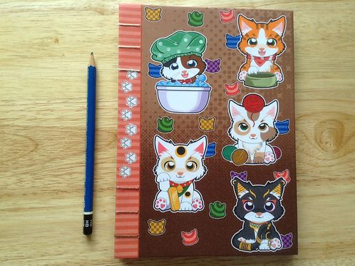 Sparkly Cat Journal (A6/A5 size)