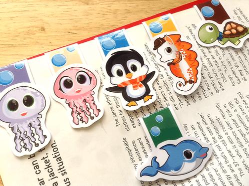 Sea animal magnetic bookmarks
