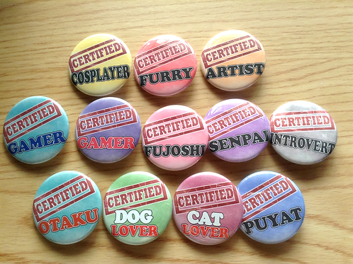 Certified button pins