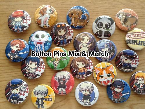 Button pins mix and match