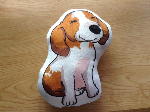 Dog Pillow (Dacshund,beagle, piebald)