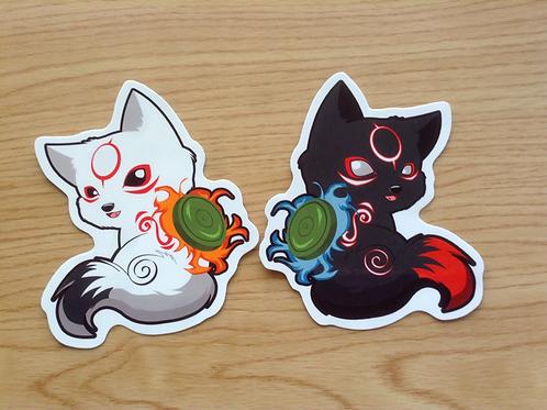 Okamiden Chibiterasu stickers