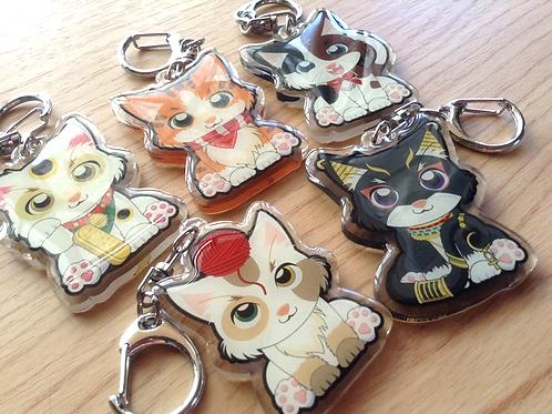 Cat Acrylic Keychain