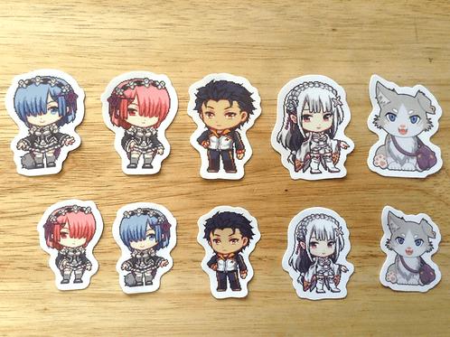 Re:Zero Stickers