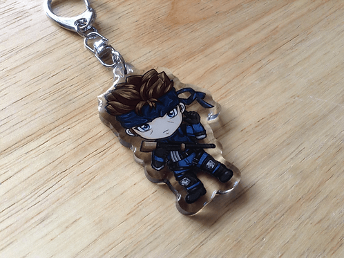 Metal Gear Solid Snake Acrylic keychain
