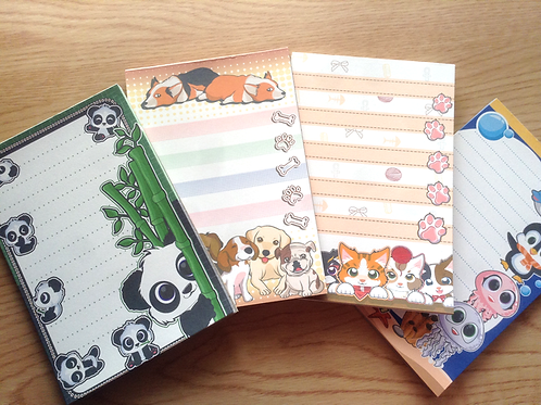 Cute animals notepad