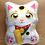 Thumbnail: Lucky Cat Pillow, Maneki Neko Pillow